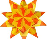 Origami Bascetta Stars - 75g / M2 Two Colors, Cut Paper, Craft Supplies, Craft Origami, Art Paper, Art Origami, Folia Bringmann, 314/2020