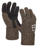 Ortovox Swisswool Classic Glove Leather Black Sheep, Size XS - Gloves, Color Brown