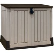 Out Midi Outdoor Plastic Garden Storage Shed Beige and Brown
