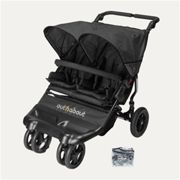 Out N About Little Nipper Double Buggy - Jet Black, Black