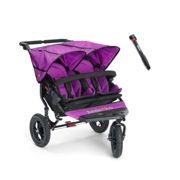 Out n About Nipper Double 360 V4 Stroller-Purple Punch + FREE Clip On Toy Worth £20!