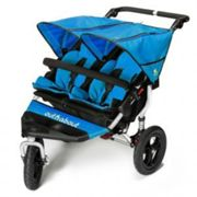 Out N About Nipper Double Buggy V4 & Rain Cover with FREE Mini Tyre Pump - Lagoon Blue, Blue
