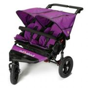 Out N About Nipper Double Buggy V4 & Rain Cover with FREE Mini Tyre Pump - Purple Punch, Purple