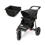 Out n About Nipper Single 360 V4 Stroller With Shopping Basket-Raven Black