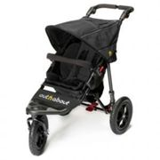 Out N About Nipper Single Buggy V4 with FREE Mini Tyre Pump - Raven Black, Black