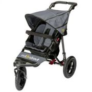 Out N About Nipper Single Buggy V4 with FREE Mini Tyre Pump - Steel Grey, Grey