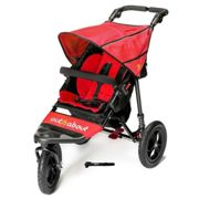Out N About Nipper Single Buggy V4 with FREE Mini Tyre Pump - Carnival Red, Red