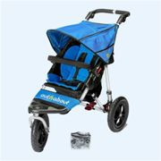 Out N About Nipper Single Buggy V4 with FREE Mini Tyre Pump - Lagoon Blue, Blue