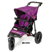 Out N About Nipper Single Buggy V4 with FREE Mini Tyre Pump - Purple Punch, Purple