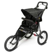 Out N About Nipper Sport V4 Jogging Buggy with FREE Mini Tyre Pump - Raven Black, Black