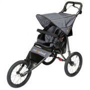Out N About Nipper Sport V4 Jogging Buggy with FREE Mini Tyre Pump - Steel Grey, Grey