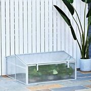 OutSunny Greenhouse Outdoors Waterproof White 1000 mm x 1000 mm x 480 mm
