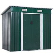 OutSunny Metal Garden Shed Outdoors Water proof Deep Green 1320 mm x 2020 mm x 1800 mm