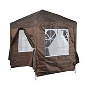 Outsunny 2 x 2m Garden Pop Up Gazebo Party Tent Wedding w/ Carrying Case - Coffee