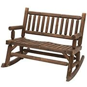 Outsunny Rocking Bench 84A-133 Fir Wood Carbonized