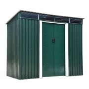 Outsunny 4 x 6ft Pent Roofed Metal Garden Shed House Hut Gardening Tool Storage