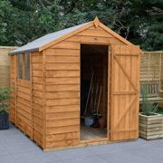 Forest Garden 8 x 6 ft Apex Overlap Dip Treated Shed