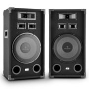 """PA-1200 Full Range Set of 2 PA Speakers with 12"""" Subwoofer 1000W Max"""