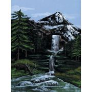 "Paint By Number Kit Artist Canvas Series 9""X12""-Mountain Waterfall"