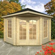 Palmako Malvern 3m x 3m Corner Log Cabin Summerhouse (28mm)