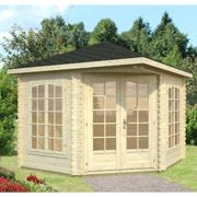 Palmako Melanie 2.8m x 2.8m Corner Log Cabin Summerhouse (28mm)