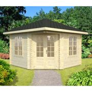 Palmako Melanie 3.5m x 3.5m Corner Log Cabin Summerhouse (44mm)