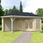 Palmako Melanie 5.7m x 3m Corner Log Cabin Summerhouse (28mm)