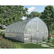 Palram Canopia 8 x 20ft Bella Extra Long Aluminium Bell Shaped Greenhouse with Polycarbonate Panels