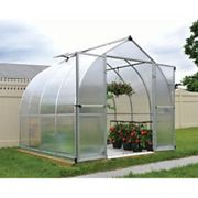 Palram 8 x 8 ft Bella Silver Aluminium Bell Shaped Greenhouse with Polycarbonate Panels
