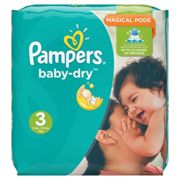 Pampers Baby-Dry Extra Layer Nappies Monthly Saving Pack - Size 3, Pack of 198