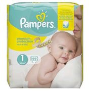 Pampers New Baby Premium T1 Protection 2-5kg 22 Nappies