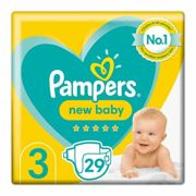 Pampers New Baby Premium Protection T3 6-10kg 29 Nappies