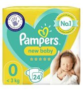 Pampers Premium Protection New Baby Size 0, 24 Nappies,
