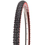 Panaracer Fire XC Pro Comp TLC MTB Tyre - Black - Red - Wire Bead, Black - Red