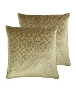 Paoletti Florence Cushions (Twin Pack) - Gold - Size 55cm (w) x 55cm (l)