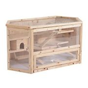 PawHut Hamster Cage Natural 600 mm x 1150 mm x 550 mm
