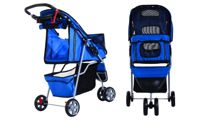 PawHut Pet Travel Stroller: Blue