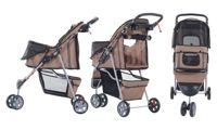 PawHut Pet Travel Stroller: Brown