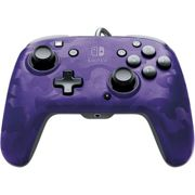 PDP Face Off Deluxe Switch Controller With Audio Jack Ca Purple Switch)