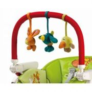 Peg Perego Play Bar with Plush Toys, Blue,green,orange,red