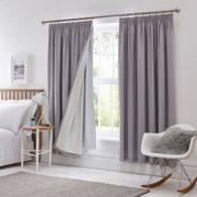 Pencil Pleat Blackout Curtain Linings White