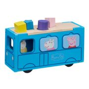 Peppa Pig Peppa's Wooden Play School Bus Shape Sorter, One Colour One Colour