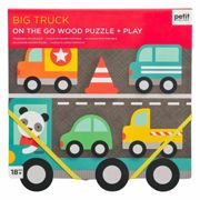 Petitcollage chunky wooden puzzle Big Truck