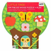 Petitcollage sturdy wooden puzzle small tree