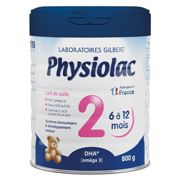 Physiolac 2nd Age Milk 6 to 12 months 800g