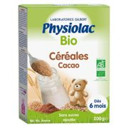 Physiolac Cereals Cocoa Wheat Rice Oats 200g