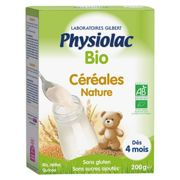 Physiolac Organic Instant Cereals 4m+ 200g