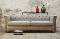 PIB Large Grey Montaigu Chesterfield Sofa
