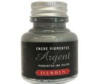 Pigment Decorative Ink Silver (30ml), Herbin, Ink Refills, Calligraphy, Art Supplies