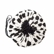 Play and Go - White and Black Football Design Toy Storage Bag - white and black